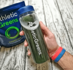 Athletic Greens in a bottle